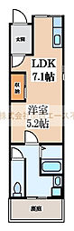 [テラスハウス] 大阪府堺市北区中長尾町3丁 の賃貸【/】の間取り