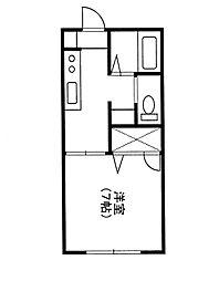 埼玉県さいたま市中央区鈴谷3丁目の賃貸アパートの間取り