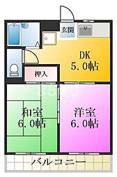 東京都江戸川区松江7丁目の賃貸マンションの間取り
