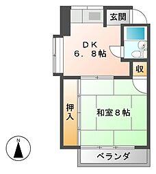 フォレスト京町[3階]の間取り