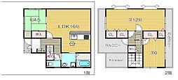 [一戸建] 大阪府茨木市南安威3丁目 の賃貸【大阪府 / 茨木市】の間取り
