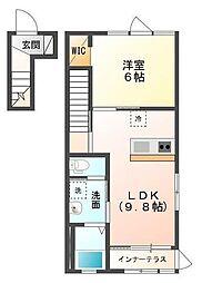 木更津市金田東1丁目新築アパート[201号室]の間取り