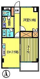 第3ウツイビル[2階]の間取り