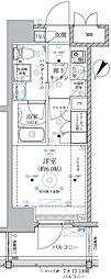 ベルグレード川崎エーゼット 5階1Kの間取り
