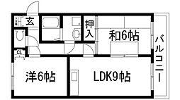 兵庫県宝塚市泉ガ丘の賃貸マンションの間取り