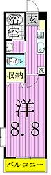 千葉県松戸市八ケ崎7の賃貸アパートの間取り