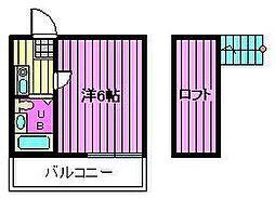 埼玉県さいたま市浦和区本太3丁目の賃貸アパートの間取り