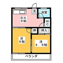 ハイツ菊[2階]の間取り