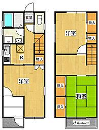 [一戸建] 兵庫県西宮市甲子園口3丁目 の賃貸【兵庫県 / 西宮市】の間取り