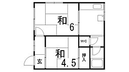 下原マンション[305号室]の間取り