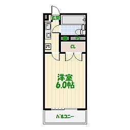 東京都葛飾区亀有5の賃貸マンションの間取り
