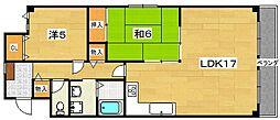 第3クラウンマンション[4階]の間取り