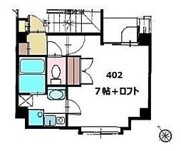 都営大江戸線 飯田橋駅 徒歩5分の賃貸マンション 4階1Kの間取り