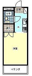 東京都八王子市めじろ台1丁目の賃貸マンションの間取り