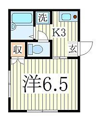 カシワグリーンハイツ[2階]の間取り