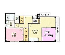 大阪府堺市美原区真福寺の賃貸アパートの間取り