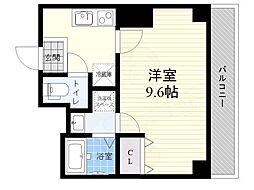 都営浅草線 押上駅 徒歩8分の賃貸マンション 5階1Kの間取り