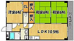 カームハイツ三番館[5階]の間取り