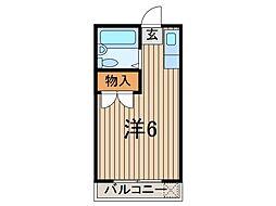 ロジマン蕨II[1階]の間取り