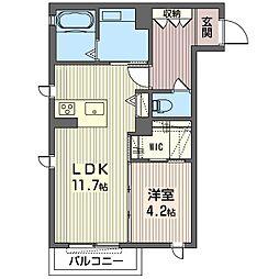 仮称 平柳町シャーメゾン[2階]の間取り