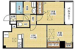 Quatre saisons新大阪[3階]の間取り