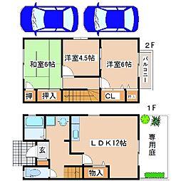 [テラスハウス] 兵庫県神戸市西区二ツ屋1丁目 の賃貸【/】の間取り