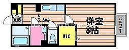 岡山県倉敷市稲荷町丁目なしの賃貸アパートの間取り