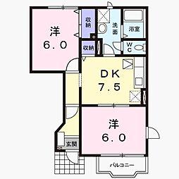 パセリハウス[1階]の間取り