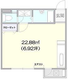 中町マンション[2F-6号室]の間取り