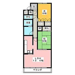 ハーモニーセブン[6階]の間取り