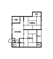 丸東荘[2階]の間取り