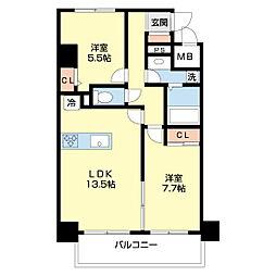 仮)ネオクレンツ川西 6階2LDKの間取り