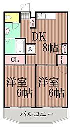 東京都大田区西馬込2丁目の賃貸マンションの間取り