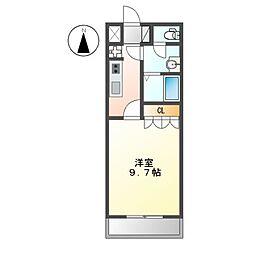 千葉県八千代市大和田新田の賃貸アパートの間取り