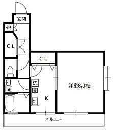 トレセリア暁町[2階]の間取り