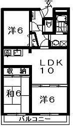 ひまわりハイツ[305号室]の間取り