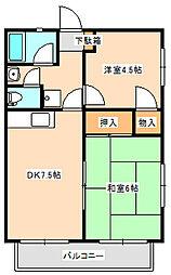 パナハイツ菊地[2階]の間取り