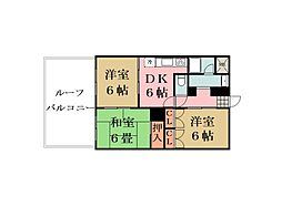 埼玉県草加市西町の賃貸マンションの間取り