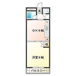 サンシャイン平田[4階]の間取り