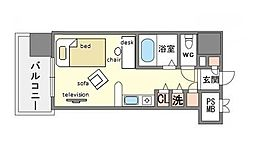 家具・家電付きモントーレ天神 B[2階]の間取り