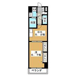 アーバネックス室町[5階]の間取り