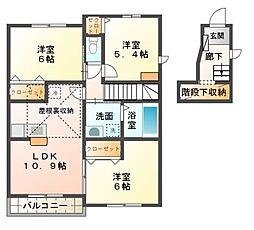 パークプラザA棟[2階]の間取り