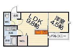 リレックス榎元町[2階]の間取り