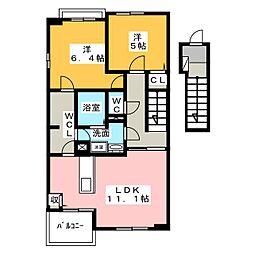 ミドルB[2階]の間取り