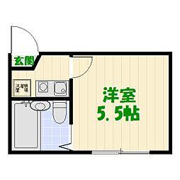 東京都足立区大谷田3丁目の賃貸アパートの間取り