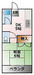 ハイツ萩原[2階]の間取り
