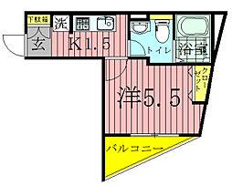 千葉県流山市松ケ丘1の賃貸マンションの間取り