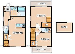 [テラスハウス] 兵庫県神戸市中央区中島通3丁目 の賃貸【/】の間取り