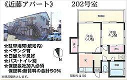 近藤アパート[202号室号室]の間取り