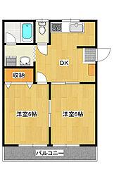 ジュネスコトーPart3 203号室[2階]の間取り